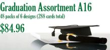 Graduation Assortment A16- 48 pks of 6