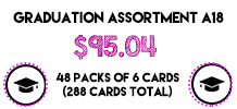 Graduation Assortment, 48 packs of 6 cards