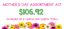 Mother's Day Assortment, 54 packs of 6 cards