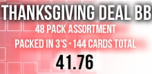 THANKSDEALBB/ 48 packs of 3 cards