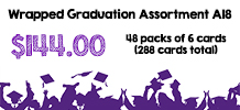 Wrapped Graduation Assortment, 48 packs of 6 cards
