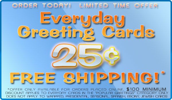 Sale! Hurry Limited Time Only, Everyday PG Cards 25�